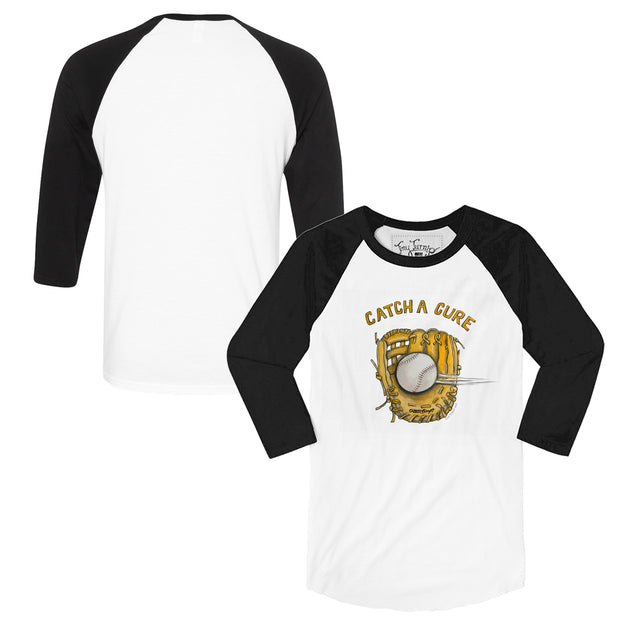 "Tiny Turnip ""Catch A Cure"" 3/4 Sleeve Raglan"