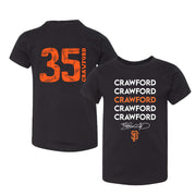 San Francisco Giants Brandon Crawford Stacked Black Tee Shirt