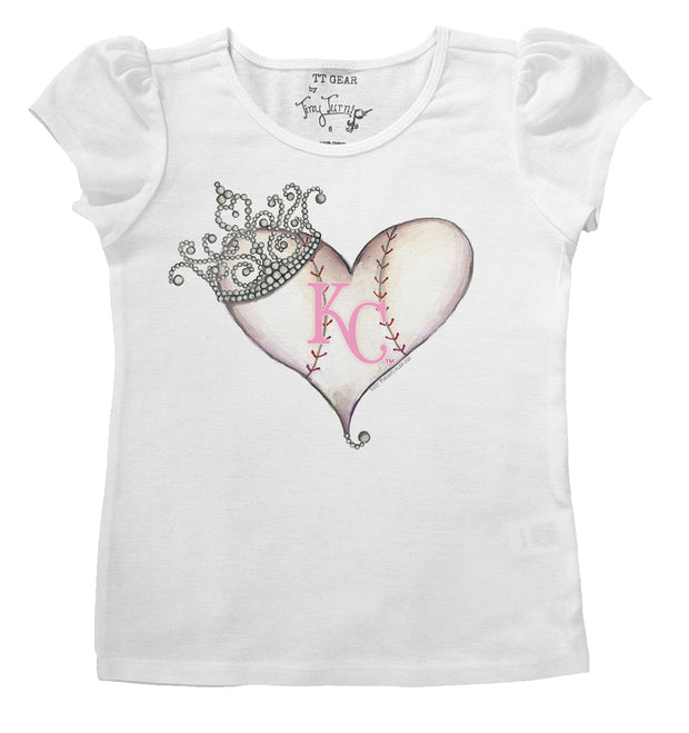 Kansas City Royals Infant Tiara Heart Puff Sleeve Tee