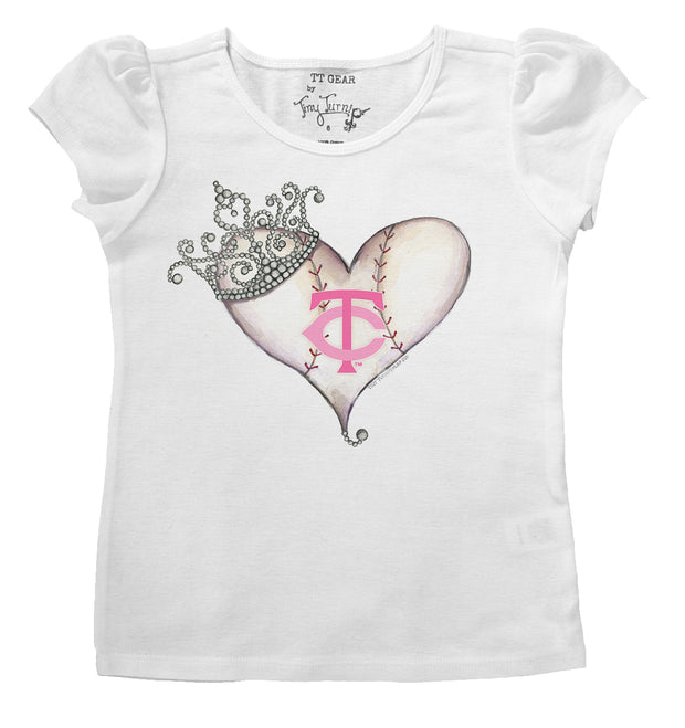 Minnesota Twins Infant Tiara Heart Puff Sleeve Tee