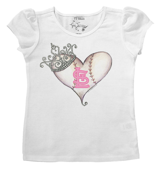 St. Louis Cardinals Infant Tiara Heart Puff Sleeve Tee