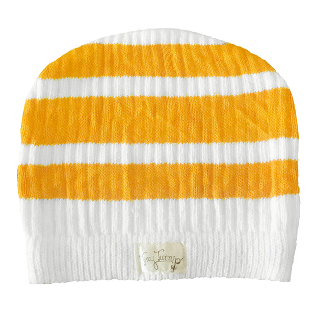Tiny Turnip Gold Stripe Beanie