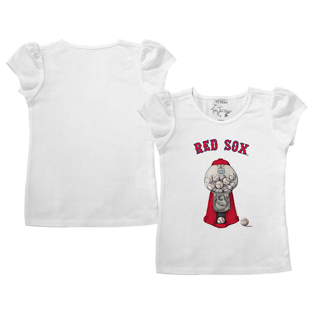Boston Red Sox Gumball Puff Sleeve Tee