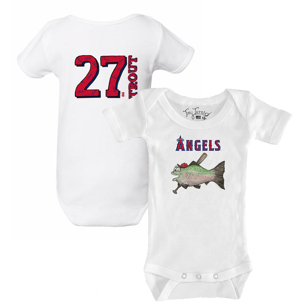 Los Angeles Angels Mike Trout Fish Short Sleeve Snapper