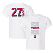 Los Angeles Angels Mike Trout Stacked Tee Shirt