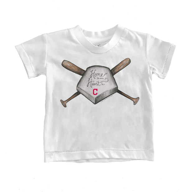 Cleveland Indians Kids Home Is Where Your Heart Is Tee