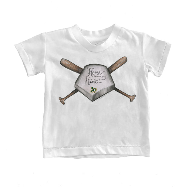 Oakland Athletics Kids Home Is Where Your Heart Is Tee