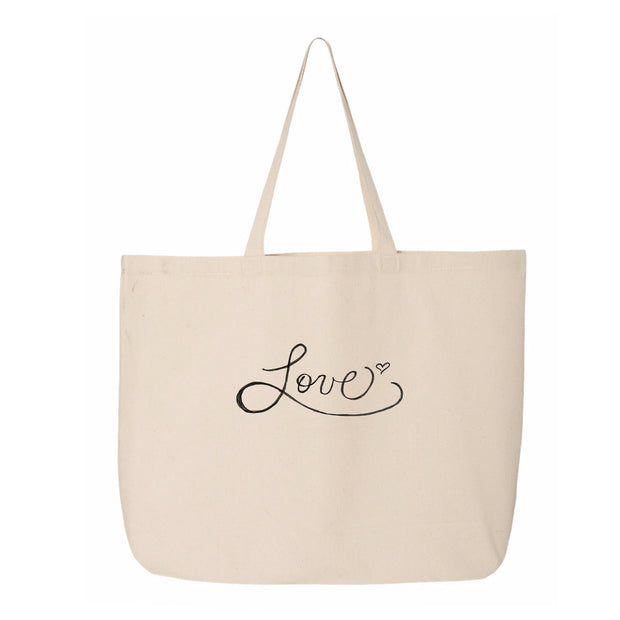 Tiny Turnip Love Canvas Tote Bag