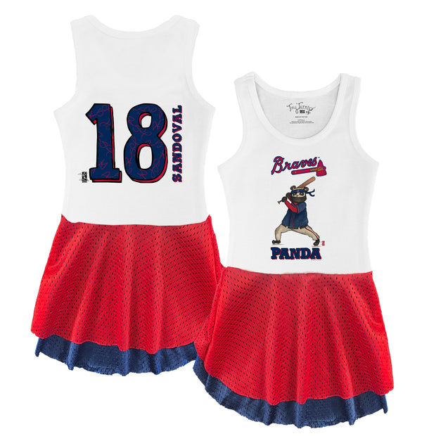 "Atlanta Braves Pablo Sandoval ""Panda"" Double Mesh Tank Dress"