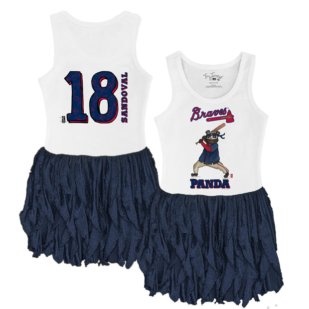"Atlanta Braves Pablo Sandoval ""Panda"" Ruffle Tank Dress"
