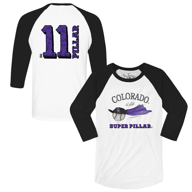 "Colorado Rockies Kevin Pillar ""Super Pillar"" 3/4 Sleeve Raglan"
