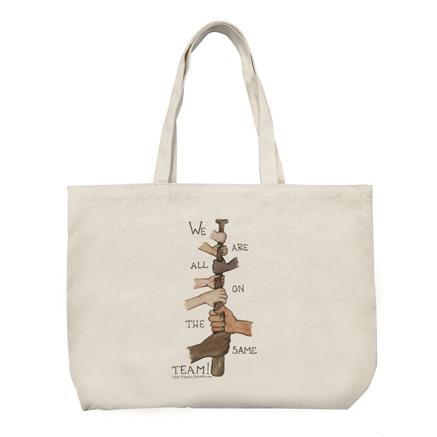 "Tiny Turnip ""We Are All On the Same Team"" Canvas Tote Bag"