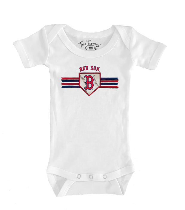 Boston Red Sox Infant Base Stripe Short Sleeve Snapper