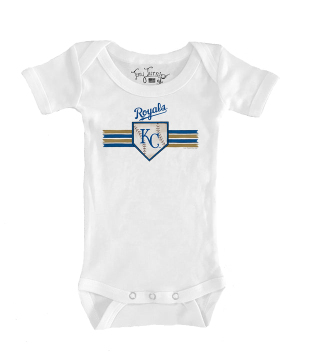 Kansas City Royals Infant Base Stripe Short Sleeve Snapper