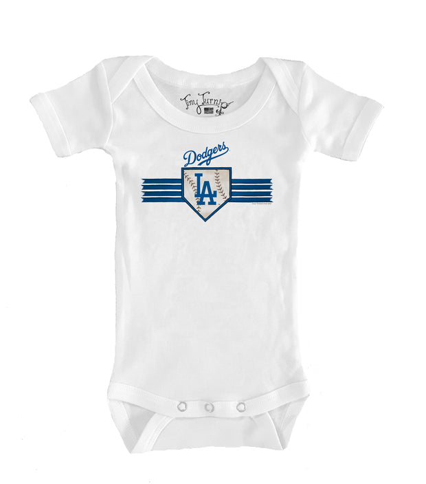 Los Angeles Dodgers Infant Base Stripe Short Sleeve Snapper