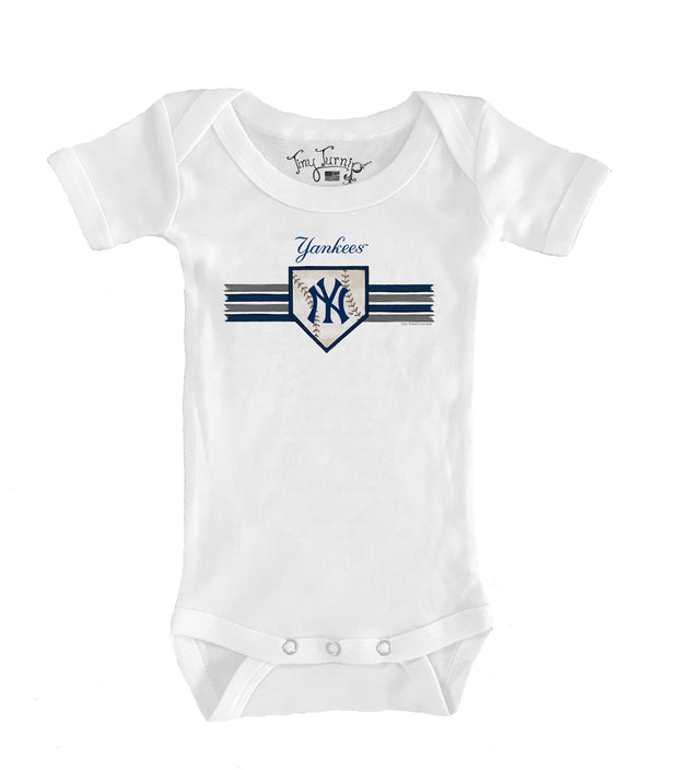 New York Yankees Infant Base Stripe Short Sleeve Snapper
