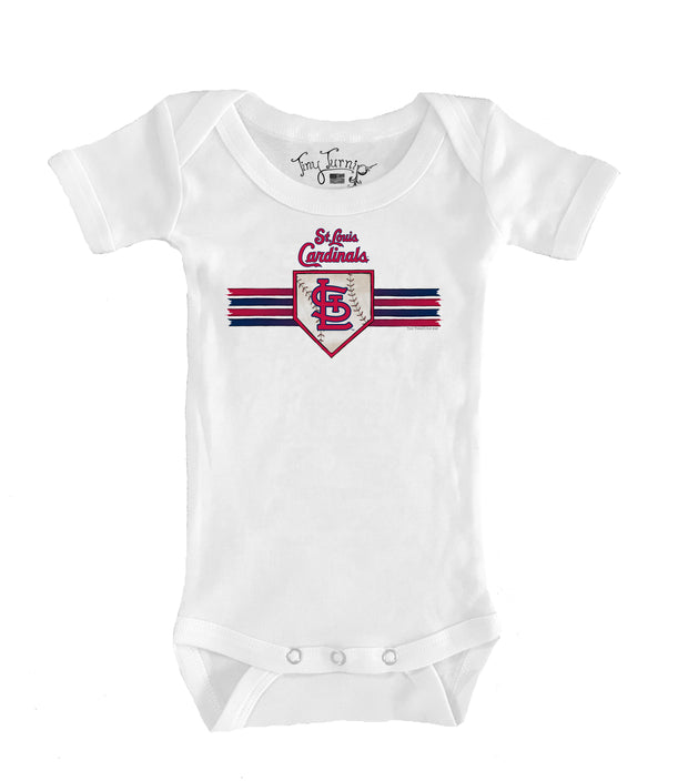 St. Louis Cardinals Infant Base Stripe Short Sleeve Snapper