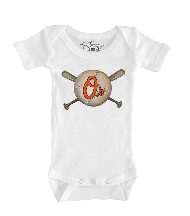 Baltimore Orioles Infant Baseball Crossbats Short Sleeve Snapper
