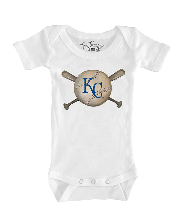 Kansas City Royals Infant Baseball Crossbats Short Sleeve Snapper