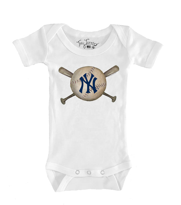 New York Yankees Infant Baseball Crossbats Short Sleeve Snapper