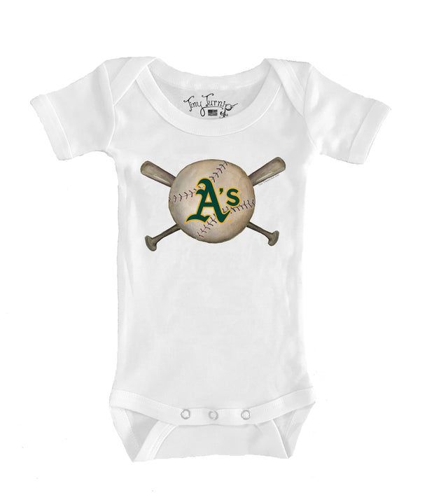 Oakland Athletics Infant Baseball Crossbats Short Sleeve Snapper