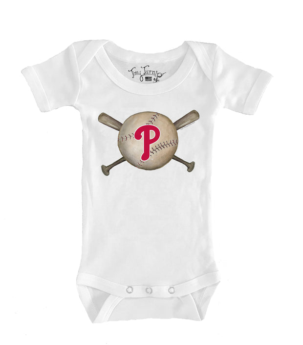 Philadelphia Phillies Infant Baseball Crossbats Short Sleeve Snapper