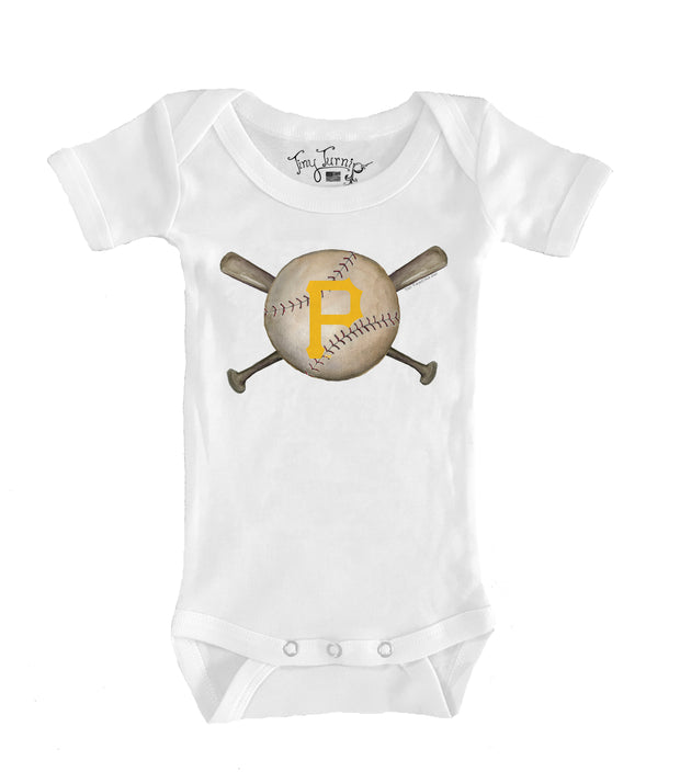 Pittsburgh Pirates Infant Baseball Crossbats Short Sleeve Snapper