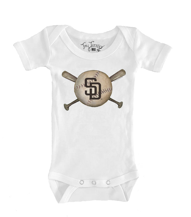 San Diego Padres Infant Baseball Crossbats Short Sleeve Snapper