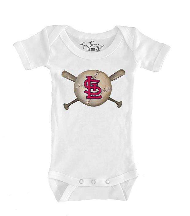St. Louis Cardinals Infant Baseball Crossbats Short Sleeve Snapper