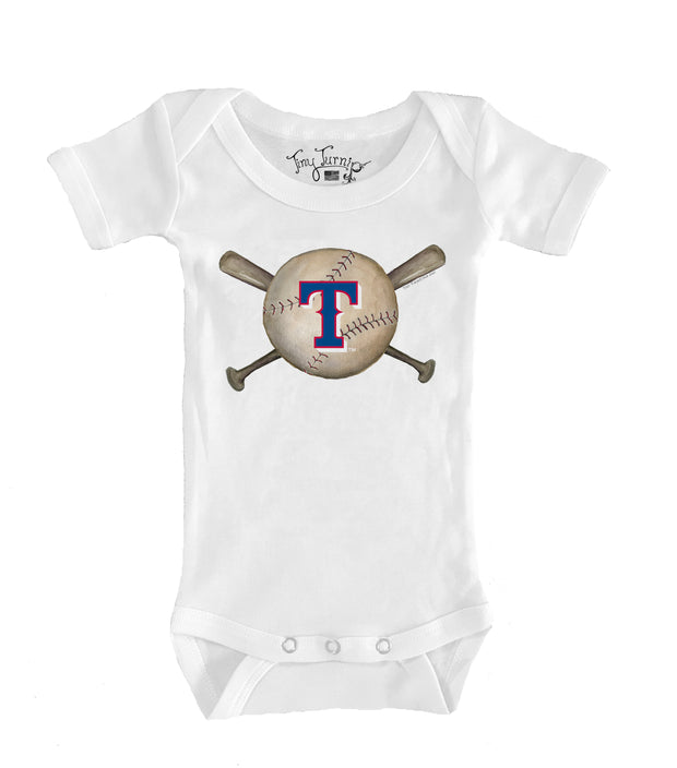Texas Rangers Infant Baseball Crossbats Short Sleeve Snapper