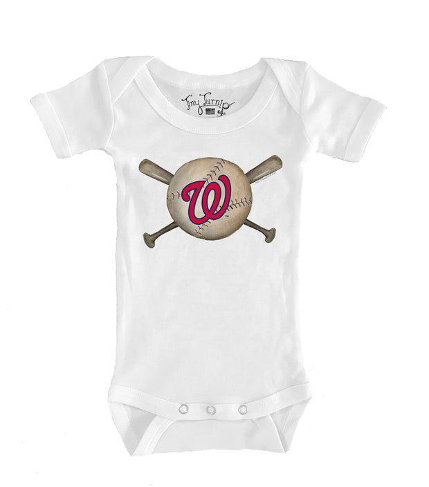 Washington Nationals Infant Baseball Crossbats Short Sleeve Snapper