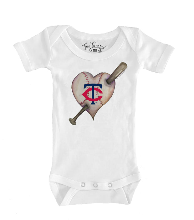 Minnesota Twins Infant Heart Bat Short Sleeve Snapper
