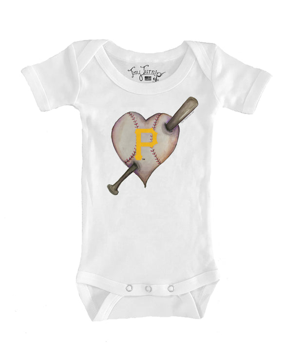 Pittsburgh Pirates Infant Heart Bat Short Sleeve Snapper