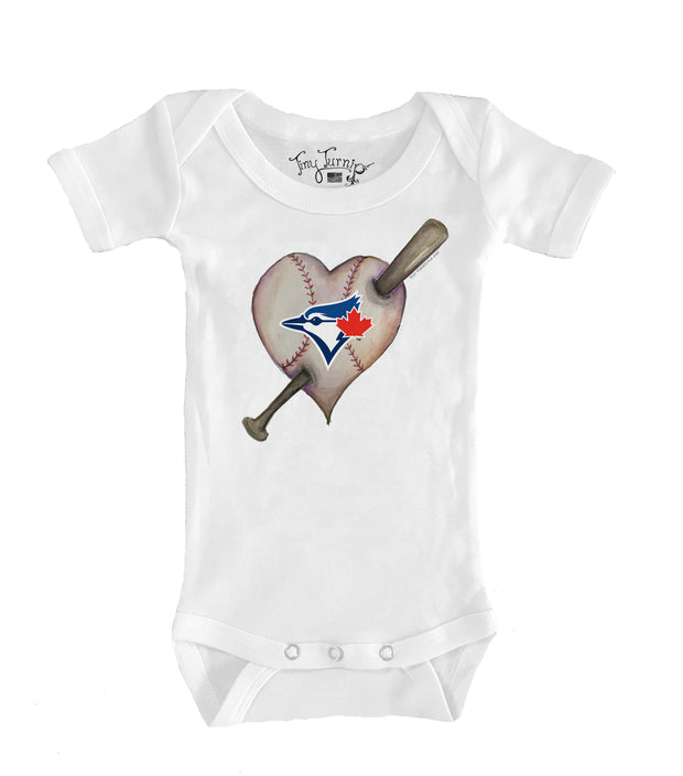 Toronto Blue Jays Infant Heart Bat Short Sleeve Snapper