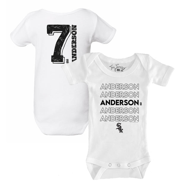Chicago White Sox Tim Anderson Stacked Short Sleeve Snapper