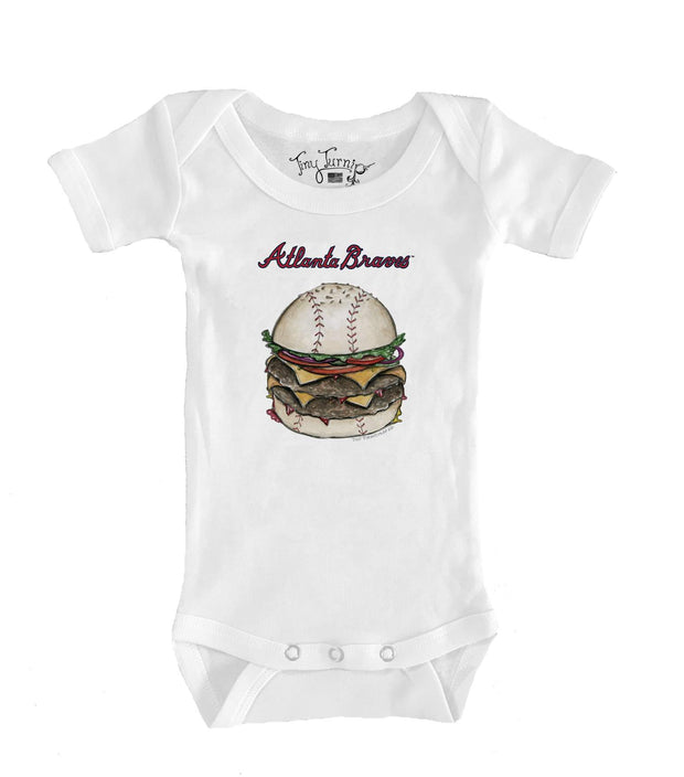 Atlanta Braves Infant Burger Short Sleeve Snapper