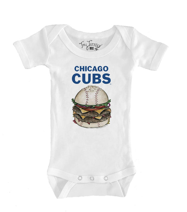 Chicago Cubs Infant Burger Short Sleeve Snapper