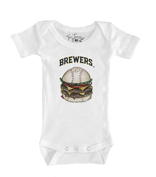 Milwaukee Brewers Infant Burger Short Sleeve Snapper