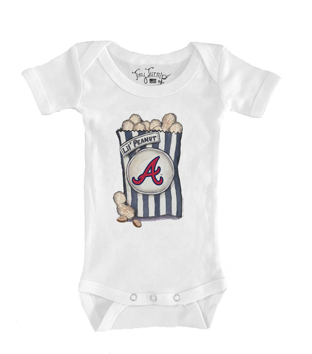 Atlanta Braves Infant Lil' Peanut Short Sleeve Snapper