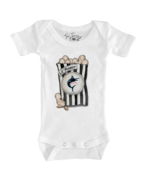 Miami Marlins Infant Lil' Peanut Short Sleeve Snapper
