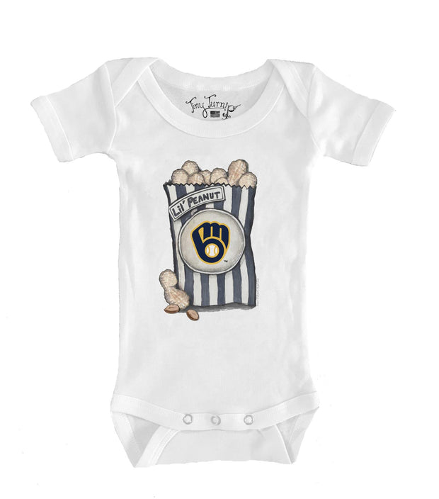 Milwaukee Brewers Infant Lil' Peanut Short Sleeve Snapper