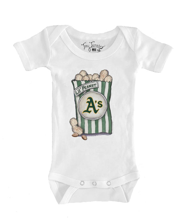 Oakland Athletics Infant Lil' Peanut Short Sleeve Snapper