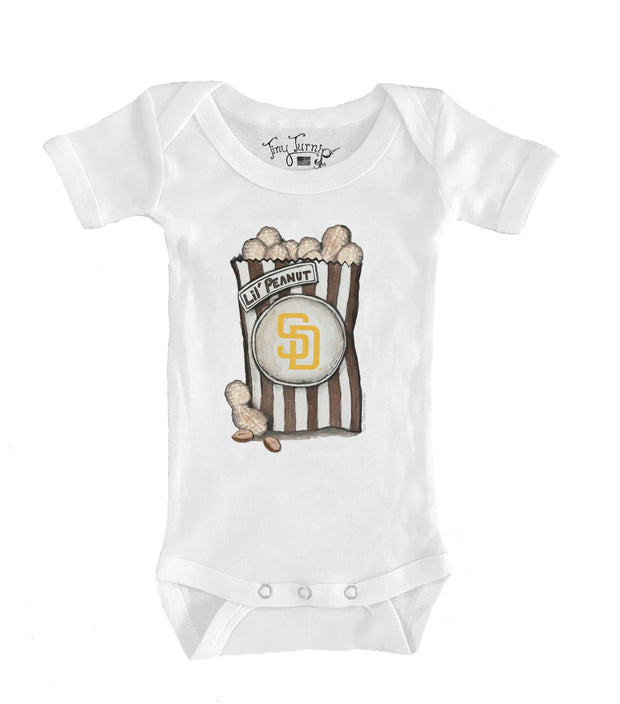 San Diego Padres Infant Lil' Peanut Short Sleeve Snapper