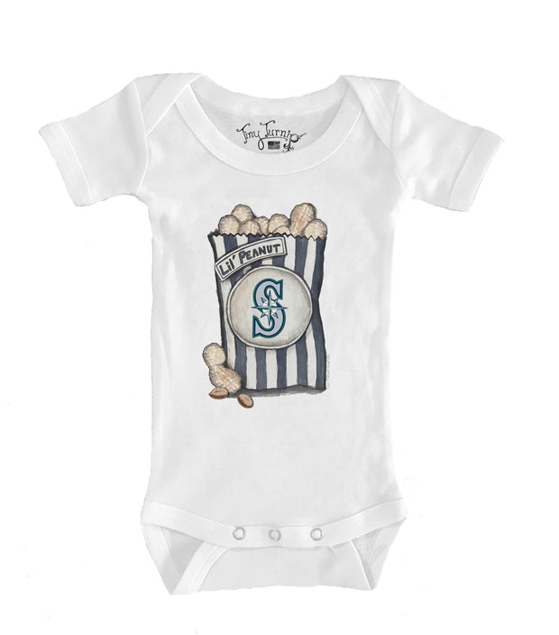 Seattle Mariners Infant Lil' Peanut Short Sleeve Snapper