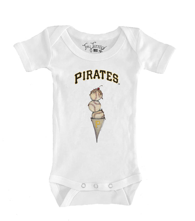 Pittsburgh Pirates Infant Triple Scoop Short Sleeve Snapper
