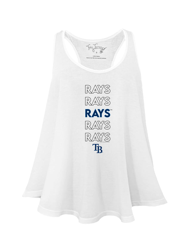 Tampa Bay Rays Women's Stacked Aubri Tank