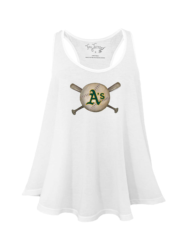 Oakland Athletics Women's Baseball Crossbats Aubri Tank