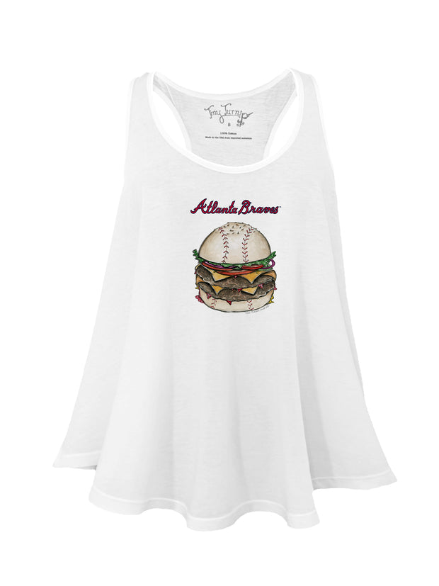 Atlanta Braves Women's Burger Aubri Tank