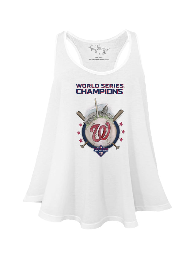 Washington Nationals Women's 2019 World Series Champions Skyline Aubri Tank