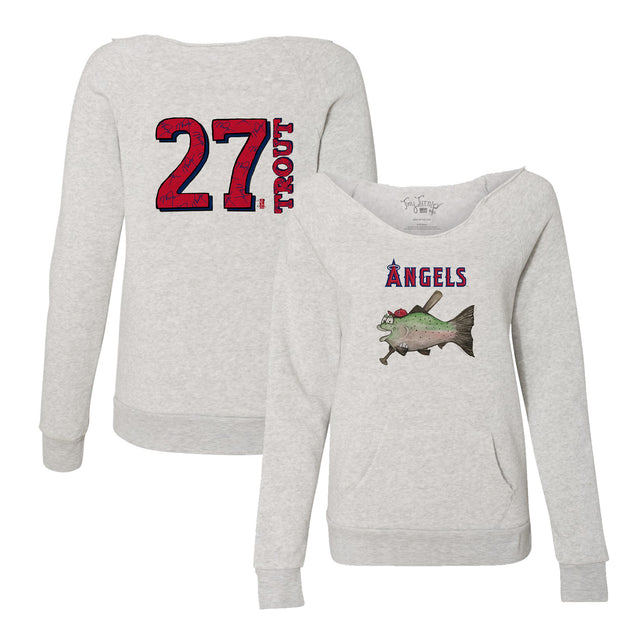 Los Angeles Angels Mike Trout Fish Women's Slouchy Sweatshirt